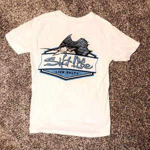Salt life short sleeve T-shirt with front pocket